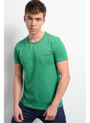 Rodi Jeans Erkek T-Shirt Fırçalı Süprem Cepli Bis. Yaka RD19YE279978 Yeşil